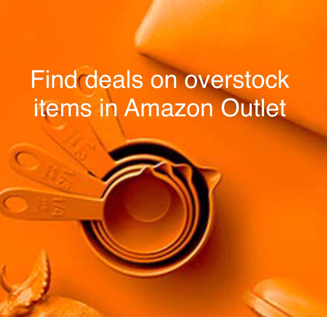 Find deals on overstock items in Amazon Outlet